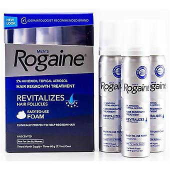 Men's Rogaine Hair Regrowth Treatment Foam (2.11 oz., 3 Pack)