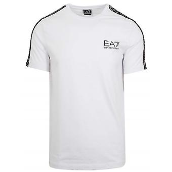 Ea7 White Tape Logo T-Shirt