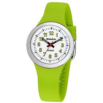 SINAR Youth Watch Kids Wristwatch Analog Quartz Silicone Ribbon XB-35-3 Vert