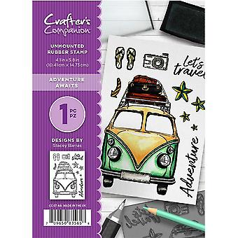 Crafter's Companion A6 Rubber Stamp - Adventure Awaits