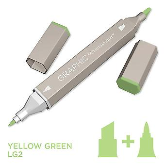 Grafisch door spectrum Noir enkele pennen-geel groen