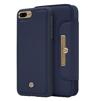 Marvêlle iPhone 7/8 Plus Magnetic Case & Wallet Blue Chic