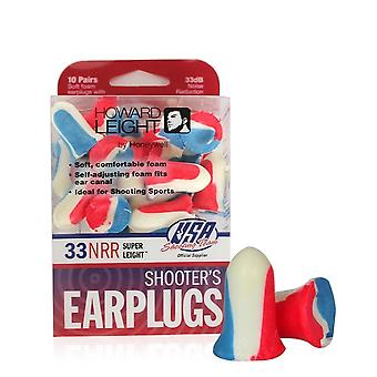 Howard Leight USA Shooters Earplugs, 10-Pair, Assorted Packs #R-01891