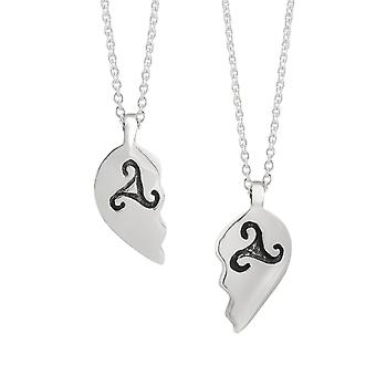 "Celtic Best Friend Amore Cuore Antico Triskele Collana Ciondoli - Include 18"" Catena"