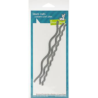 Lawn Fawn Stitched Simple Wavy Borders Cutting Dies