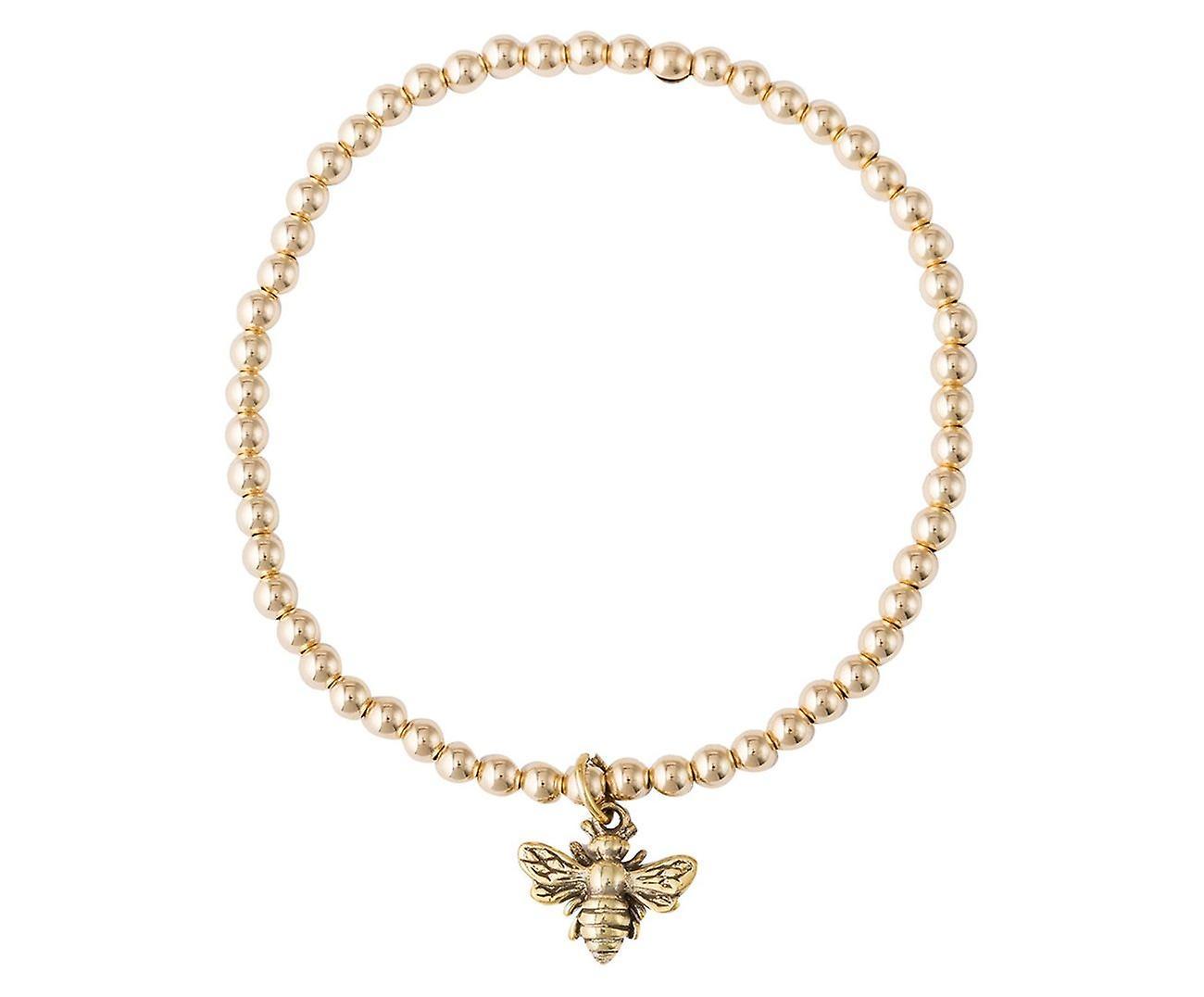 GEMSHINE Damen oder Mädchenarmband BIENE in 925 Silber, vergoldet oder rose