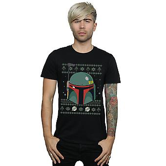 Star Wars Men's Boba Fett Christmas T-Shirt