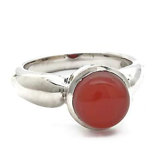 Karneol Ring 925 Silber Sterlingsilber Damenring orange rot (MRI 165-16)