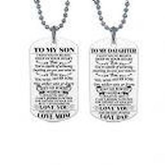 ' para meu filho ' e ' para a minha filha ' Dog Tags colar