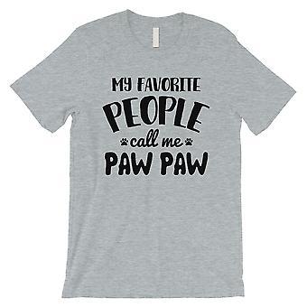 Lieblings-Menschen Paw Paw Mens Grey Friendly Cool Shirt für Haustierbesitzer