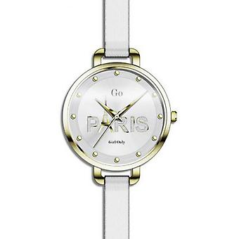 Watch GO 698800 - watch leather white woman