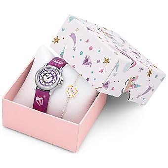 Certus Children's Box Set 647290 - Leather Watch Color Patterns Gourmands - Jewelry Bracelet Girl