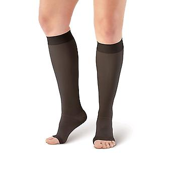 Pebble UK Medical Gewicht Toeless Compression Socks [Style P201] Black XL