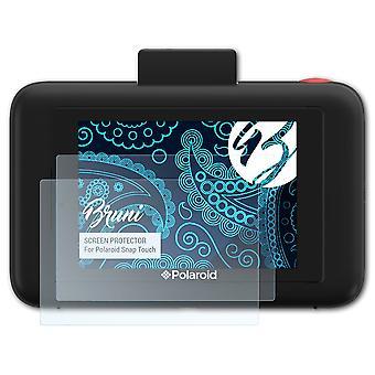Bruni 2x Ochraniacz ekranu kompatybilny z folią ochronną Polaroid Snap Touch