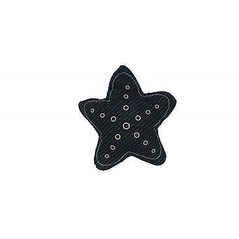 Blue with White 3D Shape Star Pillow