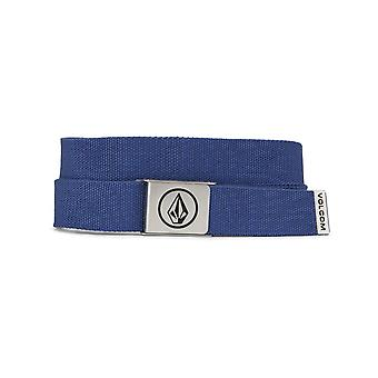 Volcom Circle Web Webbing Belt in Deep Water