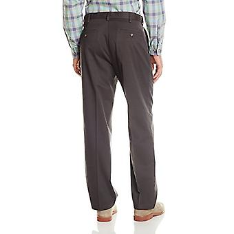 Dockers Men's Comfort Khaki Stretch Relaxed-Fit Flat-Front Pant, Steel Head (...