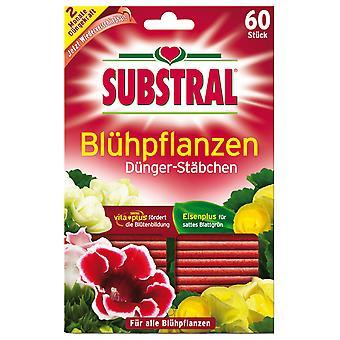 SUBSTRAL® fertilizer sticks for flowering plants, 60 pieces