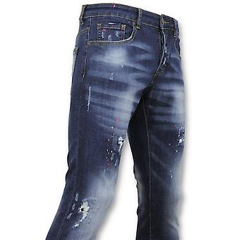 Basic Pants - Jeans Paint - D3065 - Blue
