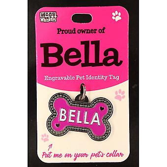 Wags & Whiskers Pet Identity Tag - Bella Dog