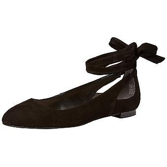 Kenneth Cole New York Femmes Wilhelmina Cuir Open Toe Ankle Wrap Ballet Fl...
