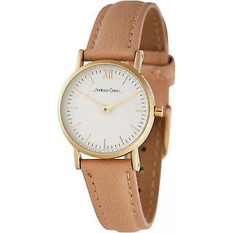 Watch Andreas Osten AO-240 - Beige Leather Watch Bo tier Dor Mixed