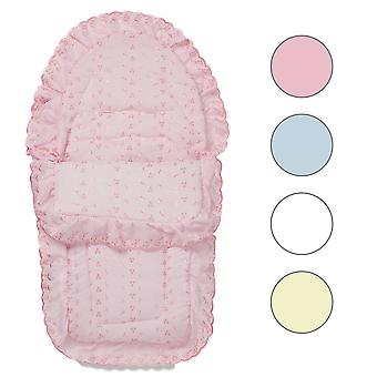 Universele Broderie Anglaise Car Seat Footmuff / Cosy Tenen