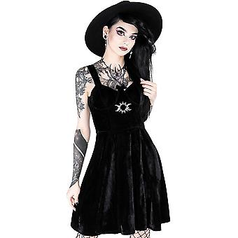 Restyle - triple goddess - black velvet dress