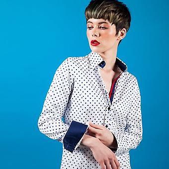 CLAUDIO LUGLI WOMENSWEAR Elizabeth Polkadot Print Shirt