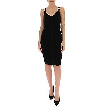 Off-white Owhi022r20h330681000 Women's Black Cotton Dress