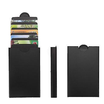 RFID-sikker kortholderen aluminium-sort