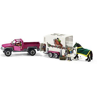schleich horse club pick up box with horse playset for ages 5 and above