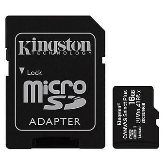 Micro SD-Speicherkarte mit Adapter Kingston SDCS2 100 MB/s exFAT/16 GB