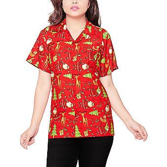 Club cubana women's regular fit classic short sleeve casual blouse shirt ccwx13