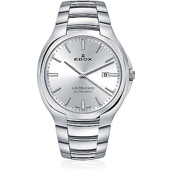 Edox - Polshorloge - Heren - Les Bémonts - Ultra Slim Date Automatic - 80114 3 AIN