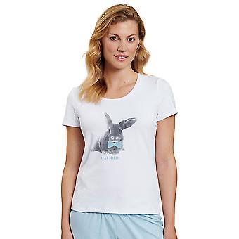 Rösch 1202066-11710 Women's Be Happy White Pijama Üst