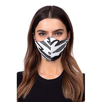 Máscara facial de perfil lavável - camuflagem cinza