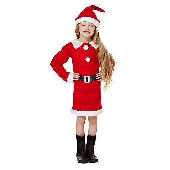Christmas Shop Girls Santa Fancy Dress Costume