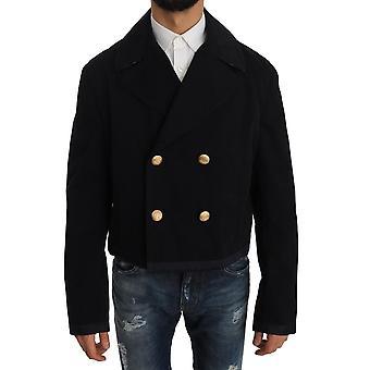 Dolce & Gabbana Trench sininen puuvilla venyttää takki takki