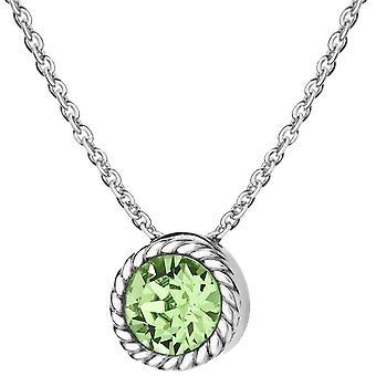 KJ Beckett augusti MÅNADSSTEN Swarovski kristall halsband - Silver/ljusgrön