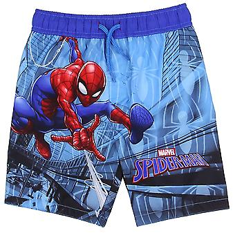 Spider-Man Swinging through the City Swim Trunks