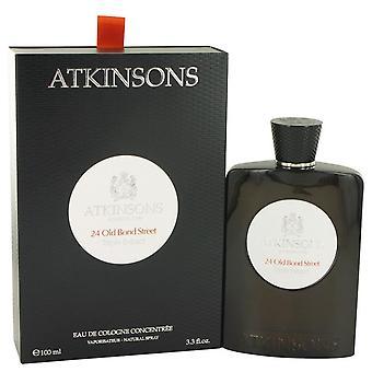 24 Old Bond Street Triple Extract Eau De Cologne Concentree Spray By Atkinsons 3.3 oz Eau De Cologne Concentree Spray