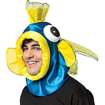 Fisch offenes Gesicht Stirnband blau
