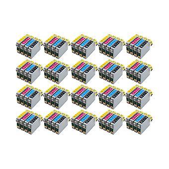 RudyTwos 20 x zamiennik dla jednostki atrament Epson Cheetah Black Cyan żółty & Magenta (4 szt) zgodny z Stylus D78 D92, D120 DX400, DX4000, DX4050, DX4400, DX4450, DX5000, DX5050, DX6000, DX6050, D