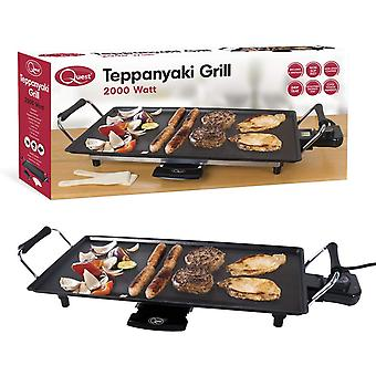 Quest Non-Stick Electric Teppanyaki Table Top Grill 2000W
