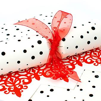 6 Store Dalmation Dots Crackers - Gør og fyld dit eget kit