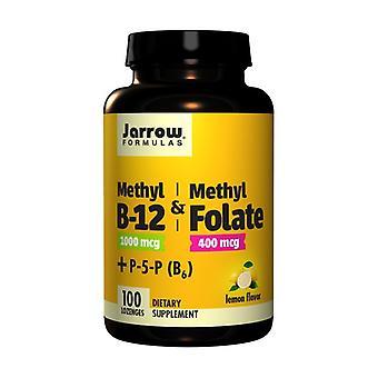 Metyyli B12 & Metyylifoaatti 400 mg Sitruuna 100 tablettia
