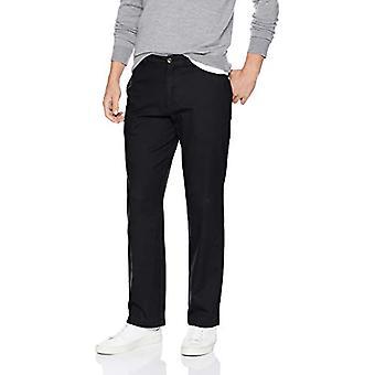 Essentials Men's Relaxed-Fit Casual Stretch Khaki, Negro, 42W x 28L