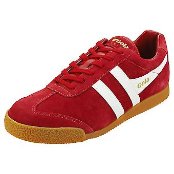 Gola Harrier Mens Classic Trainers in Rood Wit