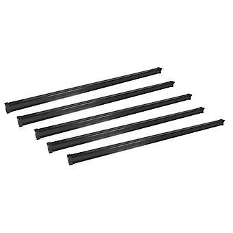 5 barres de toit cargo en acier pour Peugeot TRAVELLER 2016 En avant (points fixes)